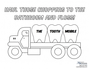 Kids Dentistry Is More Fun with The Tooth Mobile Coloring Sheet!
