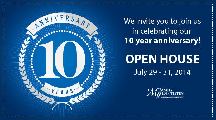Come Join Us for Our 10th Anniversary Celebration!
