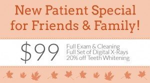 Fall 2014 New Patient Special
