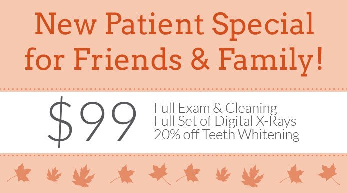 Our New Patient Special Is Back for Fall
